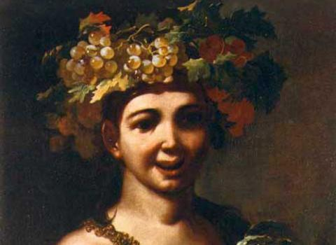BACCHUS à la corbeille de fruits